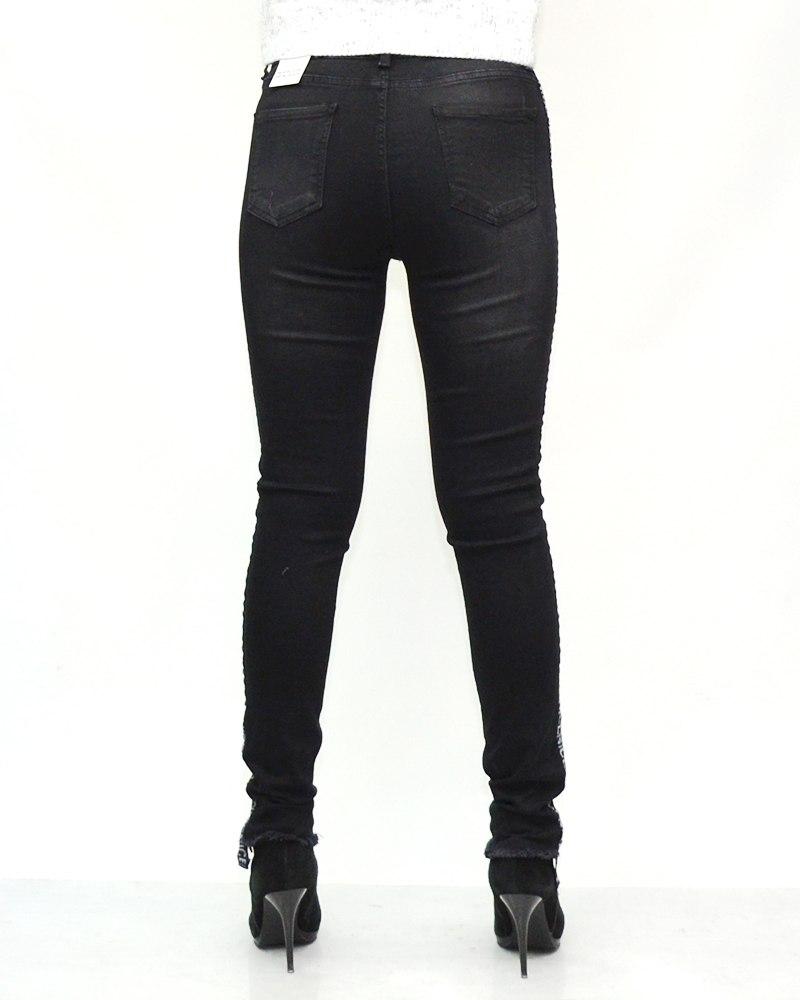 Черный джинсы женские