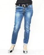 Джинсы женские DISGOLRED синие с ремнем 8804
