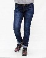 Джинсы женские DKNSEL синие с ремнем 8100