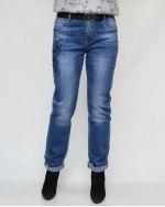 Джинсы женские DRAGON синие с ремнем 1001