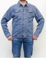 Куртка джинсовая мужская 839 светло-голубая 2001