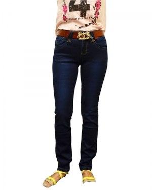 Джинсы женские VANVER синие стрейч с ремнем 8616