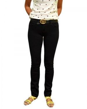 Джинсы женские VANVER черные стрейч с ремнем 8657