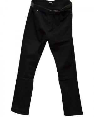 Джинсы женские VANVER черные стрейч с ремнем 8655