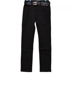 Джинсы женские VANVER черные стрейч с ремнем 8653