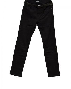Джинсы женские VANVER черные стрейч с ремнем 8717