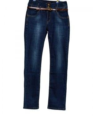Джинсы женские PTA синие стрейч с ремнем 660-3