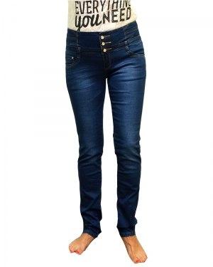 Джинсы женские MISS ANN синие стрейч 968