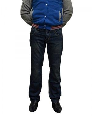 Джинсы мужские FANGSIDA синие стрейч 0058