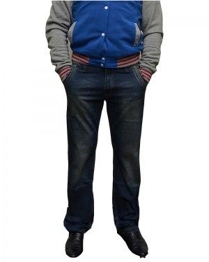 Джинсы мужские FANGSIDA синие стрейч 0059