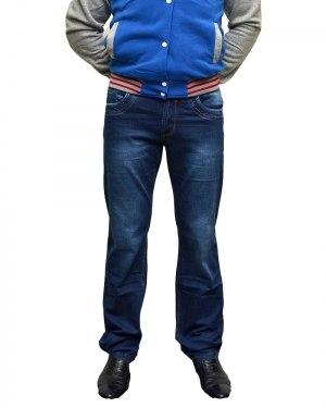 Джинсы мужские FANGSIDA синие стрейч 1008