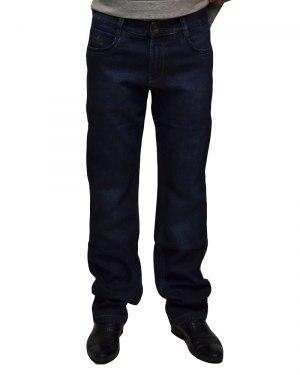 Джинсы мужские FANGSIDA синие теплые 0026
