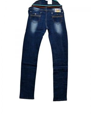 Джинсы женские ZYH синие с ремнем 89038