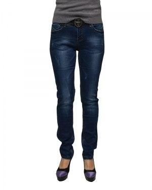 Джинсы женские VANVER синие с ремнем 8706