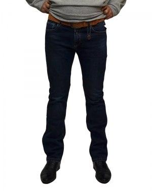 Джинсы мужские RESALSA синие с ремнем 8663