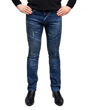 Джинсы мужские MARIO синие стрейч 501