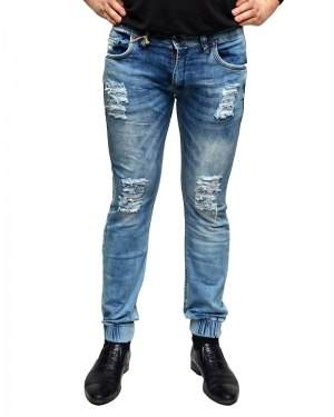 Джинсы мужские MARIO синие стрейч 0565