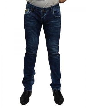 Джинсы мужские MARIO синие стрейч 2403