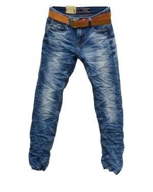 Джинсы мужские RAMSDEN синие с ремнем 8009