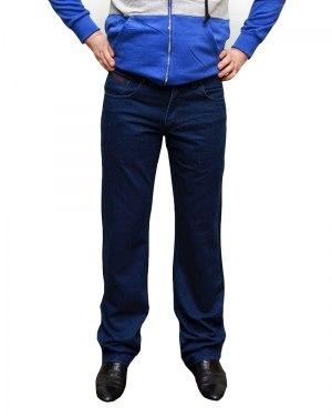 Джинсы мужские BIG COWERS ярко-синие с синей строчкой