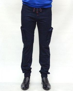 Джинсы мужские AWIVGOSS синие на резинке 6092-1