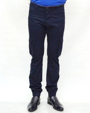 Джинсы мужские AWIVGOSS синие на резинке 6093-1