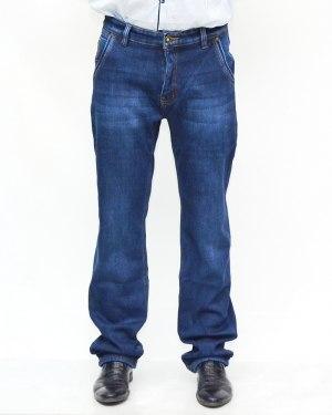 Джинсы мужские AWIVGOSS синие теплые 6053