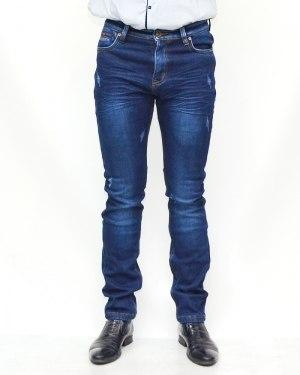 Джинсы мужские AWIVGOSS синие теплые 6056