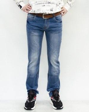 Джинсы мужские RAMSDEN голубые с ремнем 8293