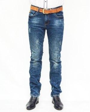 Джинсы мужские RAMSDEN синие с ремнем 8121