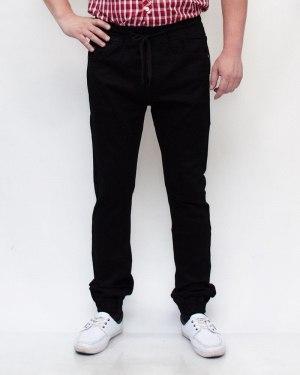 Джинсы мужские RESALSA черные на резинке 9301
