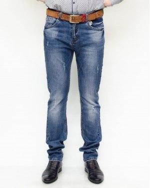 Джинсы мужские RESALSA голубые с ремнем 10033