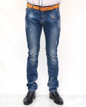 Джинсы мужские RESALSA голубые с ремнем 8785