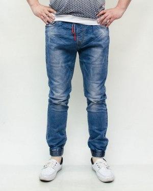 Джинсы мужские RESALSA синие с ремнем 2104-1