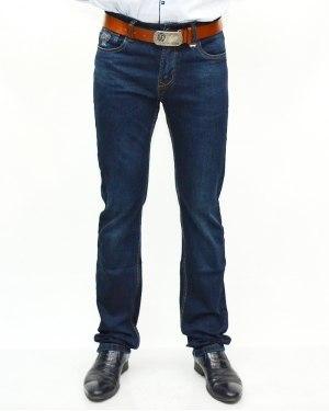 Джинсы мужские RESALSA синие с ремнем 7861