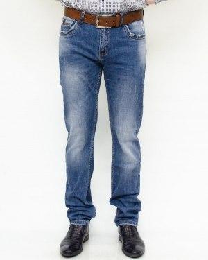 Джинсы мужские RESALSA синие с ремнем 8007
