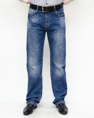 Джинсы мужские RESALSA синие с ремнем 8042