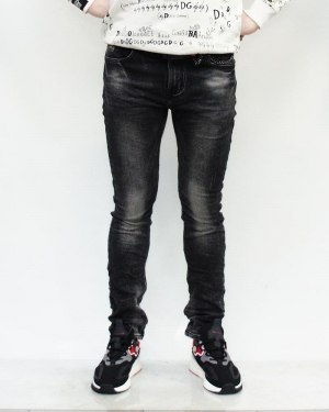 Джинсы мужские RITTER черные с ремнем 30003