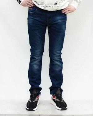 Джинсы мужские RITTER синие с ремнем 50019