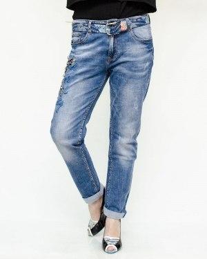 Джинсы женские DICESIL голубые с ремнем 5220