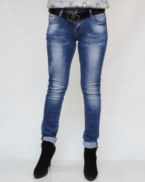 Джинсы женские DICESIL синие с ремнем 5133