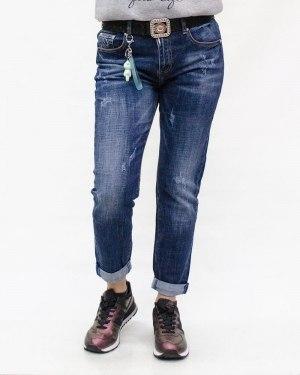 Джинсы женские DICESIL синие с ремнем 5295
