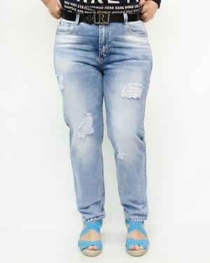 Джинсы женские DRAGON голубые с ремнем 1011