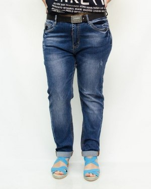Джинсы женские LIKE синие с ремнем 6010-3