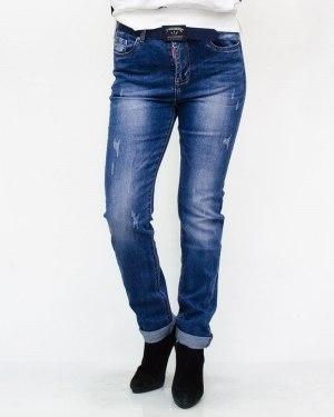 Джинсы женские LZY голубые с ремнем 845