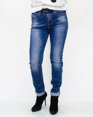Джинсы женские LZY голубые с ремнем 861