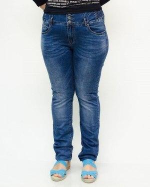 Джинсы женские LZY синие с ремнем 853