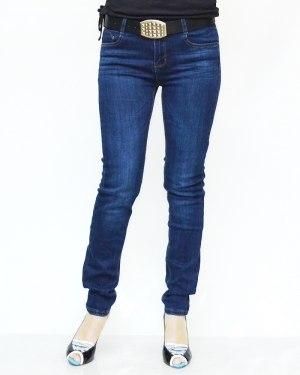 Джинсы женские MOON GIRL синие с ремнем 8806-1