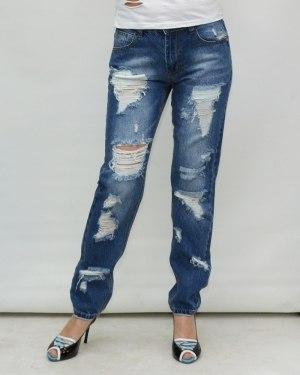 Джинсы женские MS голубые 9576