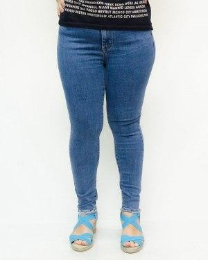 Джинсы женские MS голубые с ремнем 129